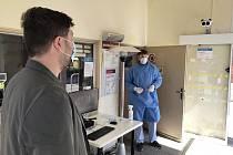 Termokamera ve Vítkovické nemocnici.