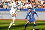 FC Baník Ostrava – SK Slavia Praha, vlevo Artem Meshchaninov