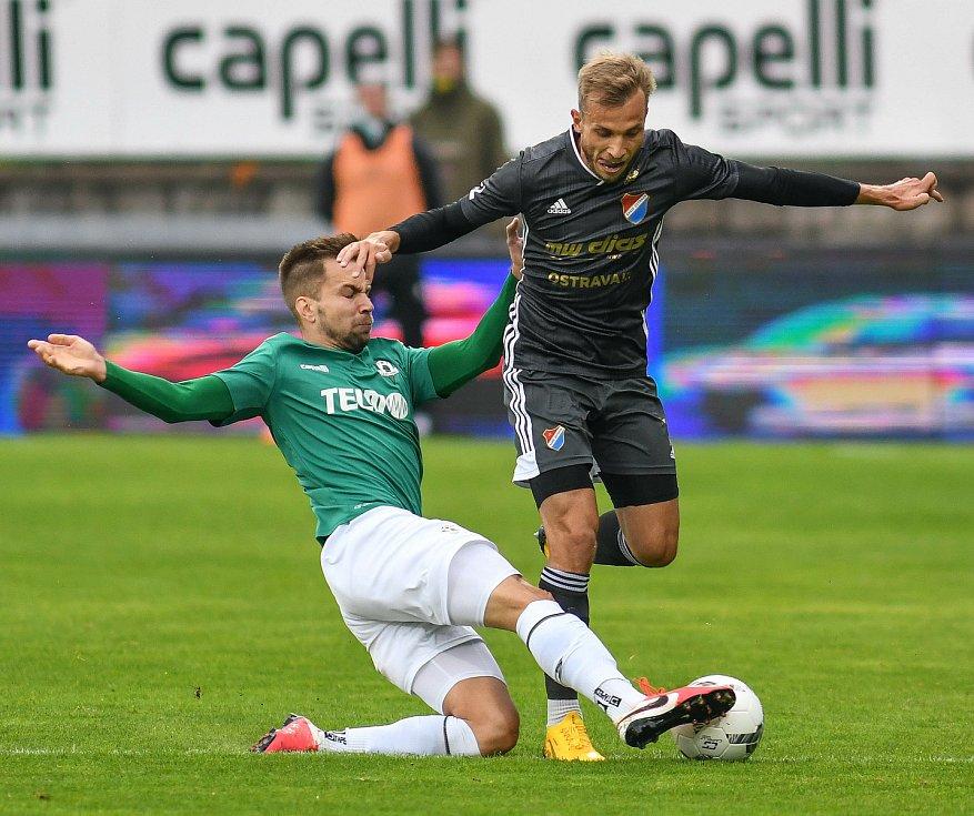 FORTUNA:LIGA - Skupina o titul, 5. kolo - FK Jablonec - FC Baník Ostrava, 8. července 2020 v Jablonci. Nemanja Kuzmanovič