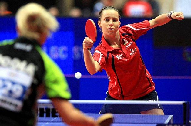 Mistrovství Evropy ve stolním tenise. Na fotografii Iveta Vacenovská