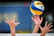 Turnaj Světového okruhu v plážovém volejbalu - zápasy o postup do osmifinále, 22. června 2018 v Ostravě. Na snímku