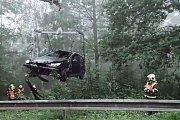 Zásah hasičů ve Staré Bělé.