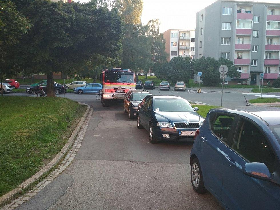 Kontrola průjezdnosti ve Frýdku-Místku.