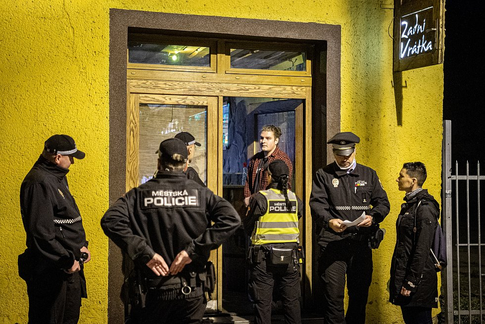 Policie a strážníci, Ostrava, rok 2020. Ilustrační foto.