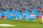 Finále fotbalového poháru MOL Cupu, Baník Ostrava - Slavia Praha 22.května 2019 v Olomouci. Na snímku vlajky Baníku Ostrava.