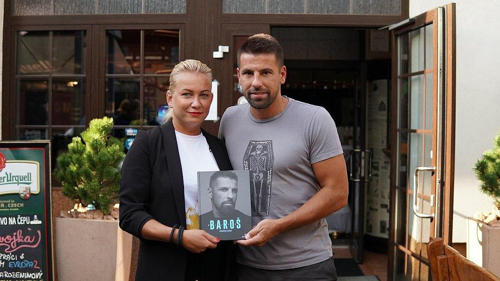 Křest knihy fotbalisty Milana Baroše v restauraci Slezska P.U.O.R., 24. září 2020 v Ostravě.
