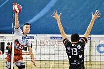 1. zápas - Český pohár, VK Ostrava - VK ČEZ Karlovarsko, 15. ledna 2020 v Ostravě.