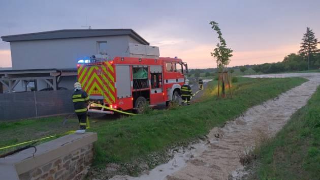 Následky prudkých bouřek na severu Moravy a ve Slezsku v neděli 25. srpna 2019.