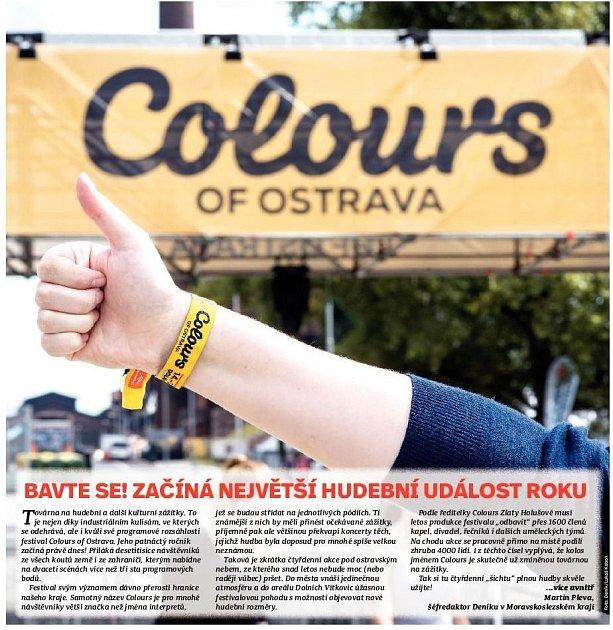 Začíná Colours of Ostrava.