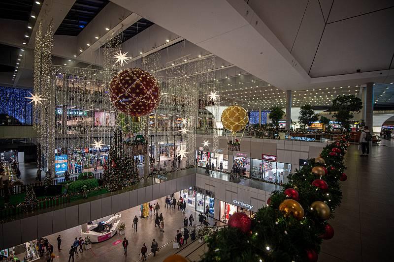 Obchodní centrum Forum Nová Karolina, prosinec 2020 v Ostravě.