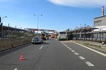 Dopravní nehoda u Dolní oblasti Vítkovice, pátek 28. srpna 2020..