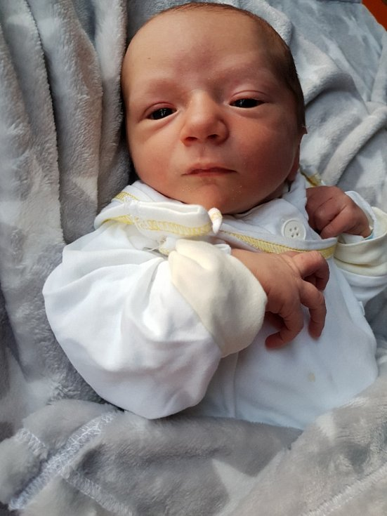 Tomáš Večerek ze Strahovic, narozen 5. července 2021, váha 3480 g, míra 51 cm. Foto: Andrea Šustková