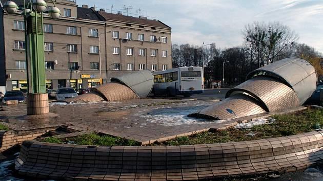 Náměstí Jiřího z Poděbrad v Ostravě-Vítkovicích