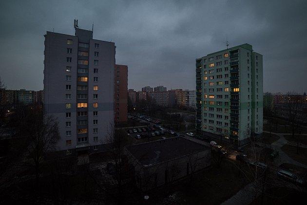 Problémové domy na ulici V. Košaře 4 a 5 v ostravské městské části Dubina, březen 2018.
