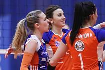 Play-off volejbalové extraligy žen: TJ Ostrava - VK UP Olomouc, 20. března 2019 v Ostravě.