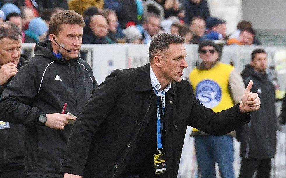 Utkání 21. kola první fotbalové ligy: 1. FC Slovácko - Baník Ostrava, 15. února 2020 v Uherském Hradišti. Trenér Baníku Luboš Kozel.