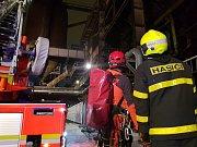 Zásah hasičů v areálu Dolní oblasti Vítkovic, 5. ledna 2019 v Ostravě.