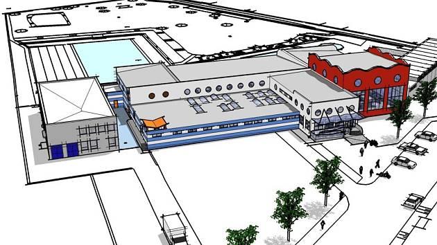 Tak by měl vypadal bazén v Zábřehu. Návrh zpracovalo Studio 2001 and Partners .