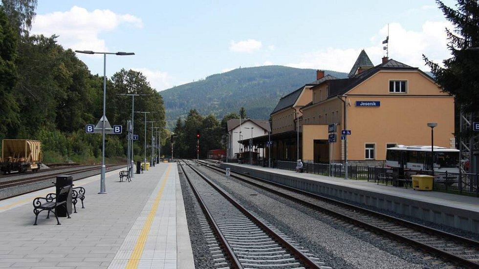 Rekonstruované nádraží v Jeseníku