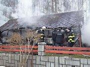 Požár v Černé Vodě