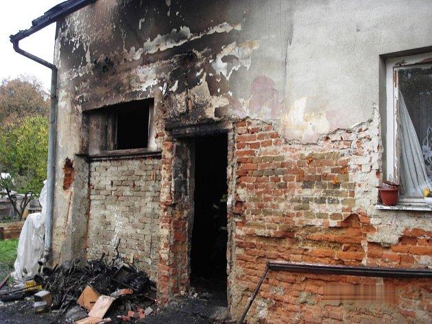 V Petrově hořelo v přístavku, který majitel používá jako kotelnu.