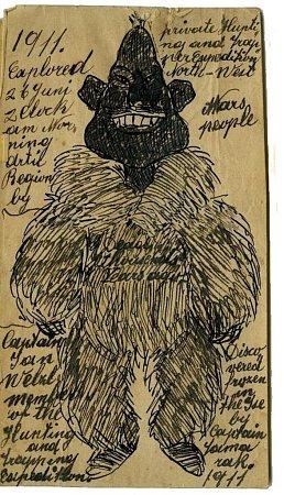 Kresbu zvláštního Eskymáka věnoval Welzl vroce 1930Američanu Johnu Buddhuemu. Teď se kresba vynořila vantikvariátu vOhiu.