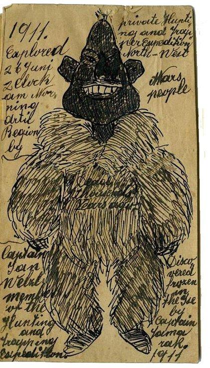 Kresbu zvláštního Eskymáka věnoval Welzl v roce 1930 Američanu Johnu Buddhuemu. Teď se kresba vynořila v antikvariátu v Ohiu.