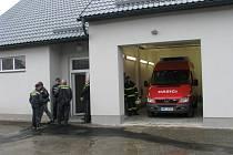 Objekt garáží nové zbrojnice jednotky Sboru dobrovolných hasičů města Zábřeh.