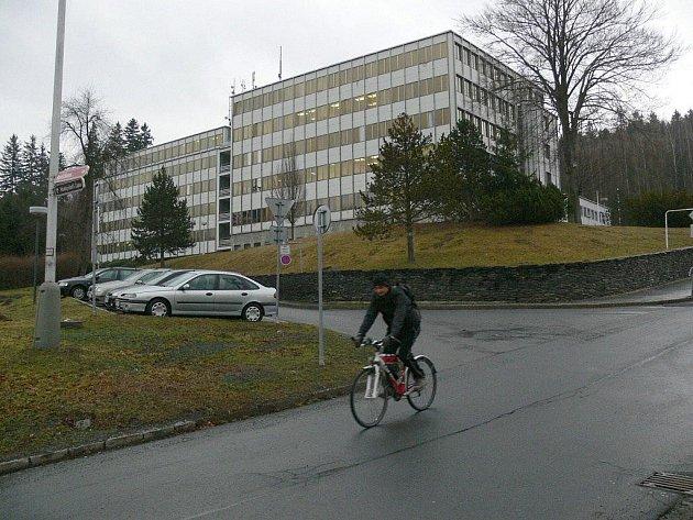 Budova takzvaného Pentagonu v Jeseníku
