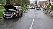 Nehoda na křižovatce ulic Puškinovy a K. H. Máchy v Šumperku