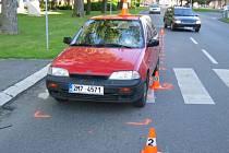 Žena z nehody vyvázla naštěstí jen s lehkým zraněním.