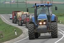 Zábřežští zemědělci protestovali jízdou po Zábřehu