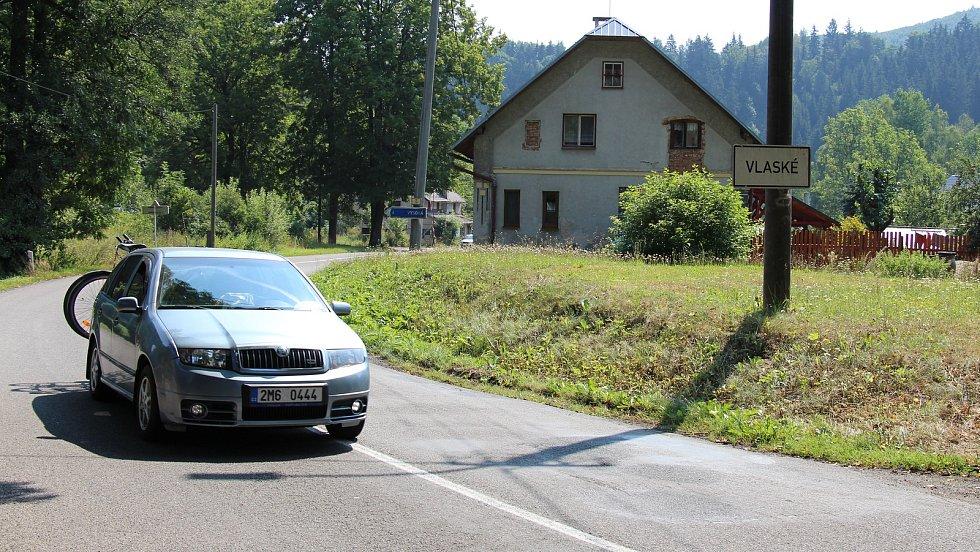 Osada Vlaské, která by v případě výstavby přehrady Hanušovice skončila pod vodou.