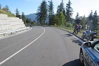 Havárie motorkáře na Červenohorském sedle v neděli 15. září.