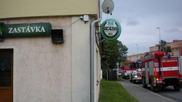 Hasiči zasahovali v šumperské pivnici Zastávka.