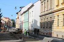 Vančurova ulice v Šumperku.