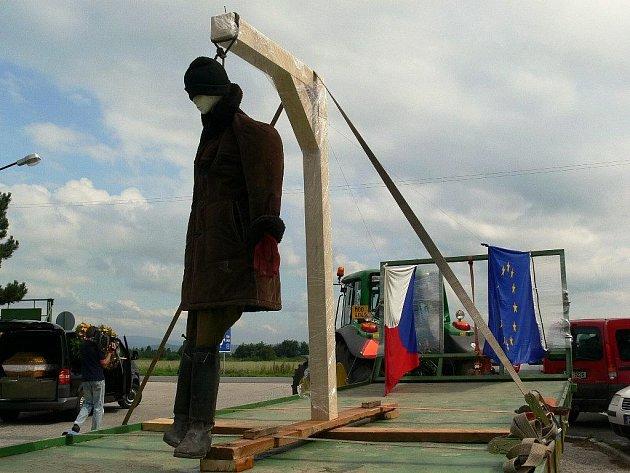 V Zábřehu protestovali zemědělci