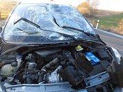 Havárie vozidla u Bílé Vody v úterý 12. března.