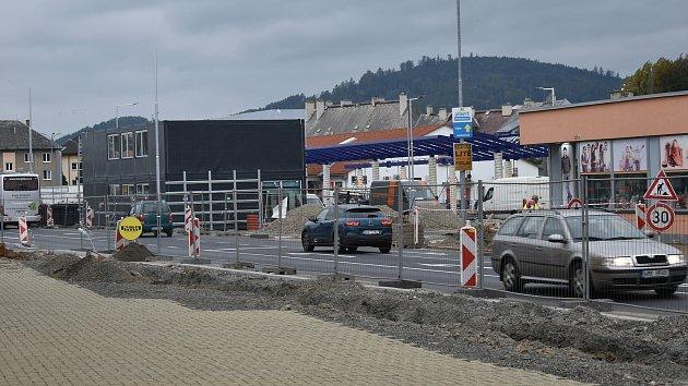 Rekonstruované autobusové nádraží vŠumperku ve čtvrtek 24.září.