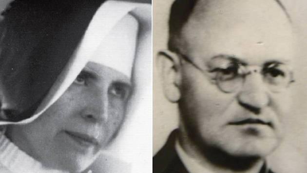Řeholnice Vojtěcha Hasmandová a ředitel semináře ve Vidnavě Ludwig Wrzoł