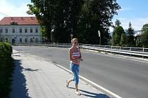 V těchto místech má vzniknout nový most, který propojí hlavní tahy z Jeseníku na Šumperk a na Rejvíz.