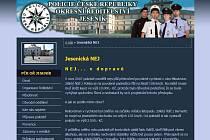 Web Jesenické policie