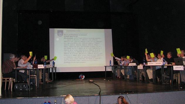Snímek z posledního jednání zábřežského zastupitelstva