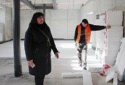 Přestavba Masarykovy školy na knihovnu, stav v úterý 30. ledna 2018.