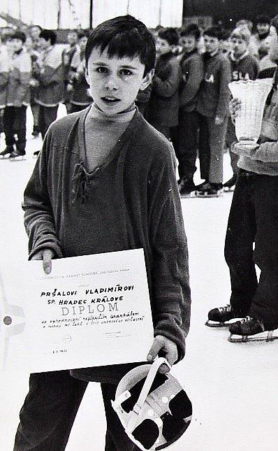 O štít únorového vítězství. První ročník turnaje mladších žáků v ledním hokeji 3.-5. března 1972, nejlepší brankař byl ze Spartak Hradec Králové