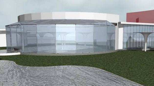Studie části nového termálního parku, který chystají lázně ve Velkých Losinách
