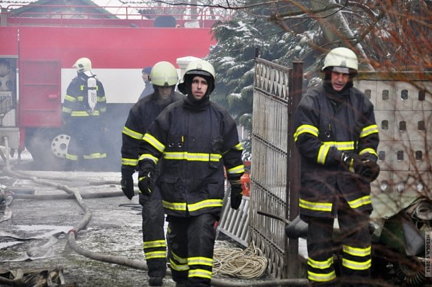 Požár v Líšnici.
