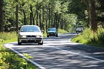 Úsek silnice na Ramzové, kde řidiči často překračují rychlost.