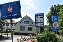 Velké Kunětice - státní hranice.