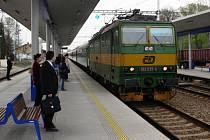 Nástupiště zábřežského nádraží